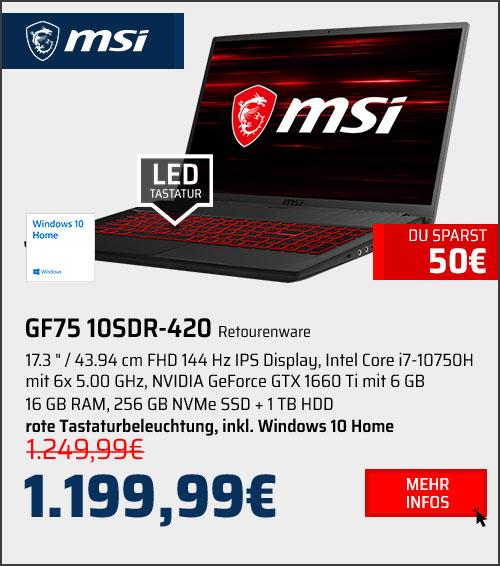 MSI GF75 10SDR-420