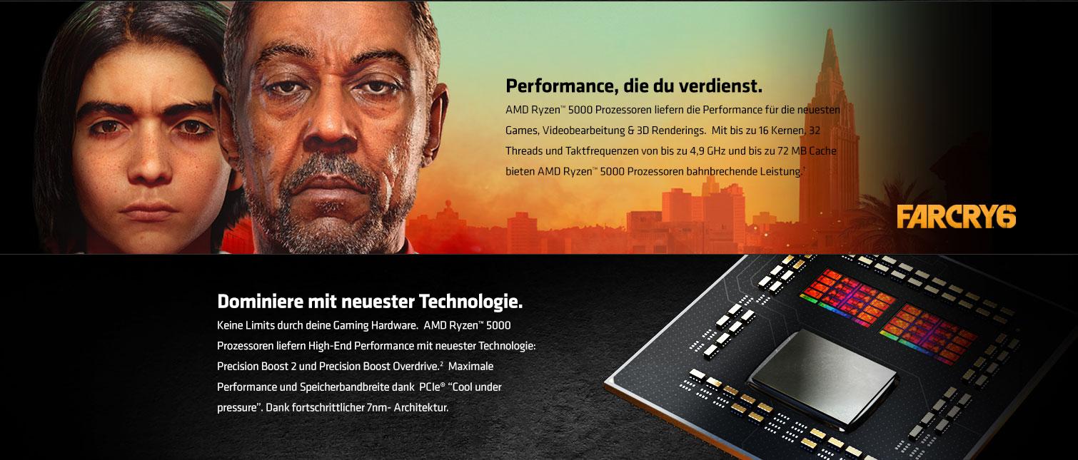 AMD Ryzen 5000 - Dominiere mit neuester Technologie