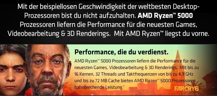 AMD Ryzen 5000 Prozessoren für top Performance in den neusten Games