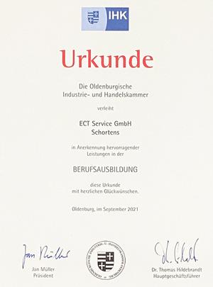 Auszeichnung der IHK für die ECT