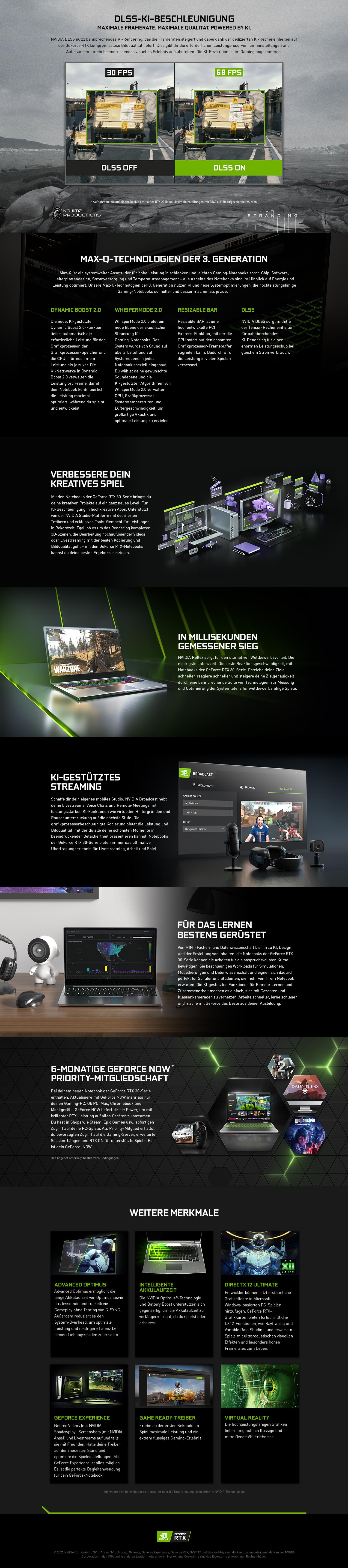 Maximale Framerates und Qualität durch NVIDIA DLSS KI-Rendering