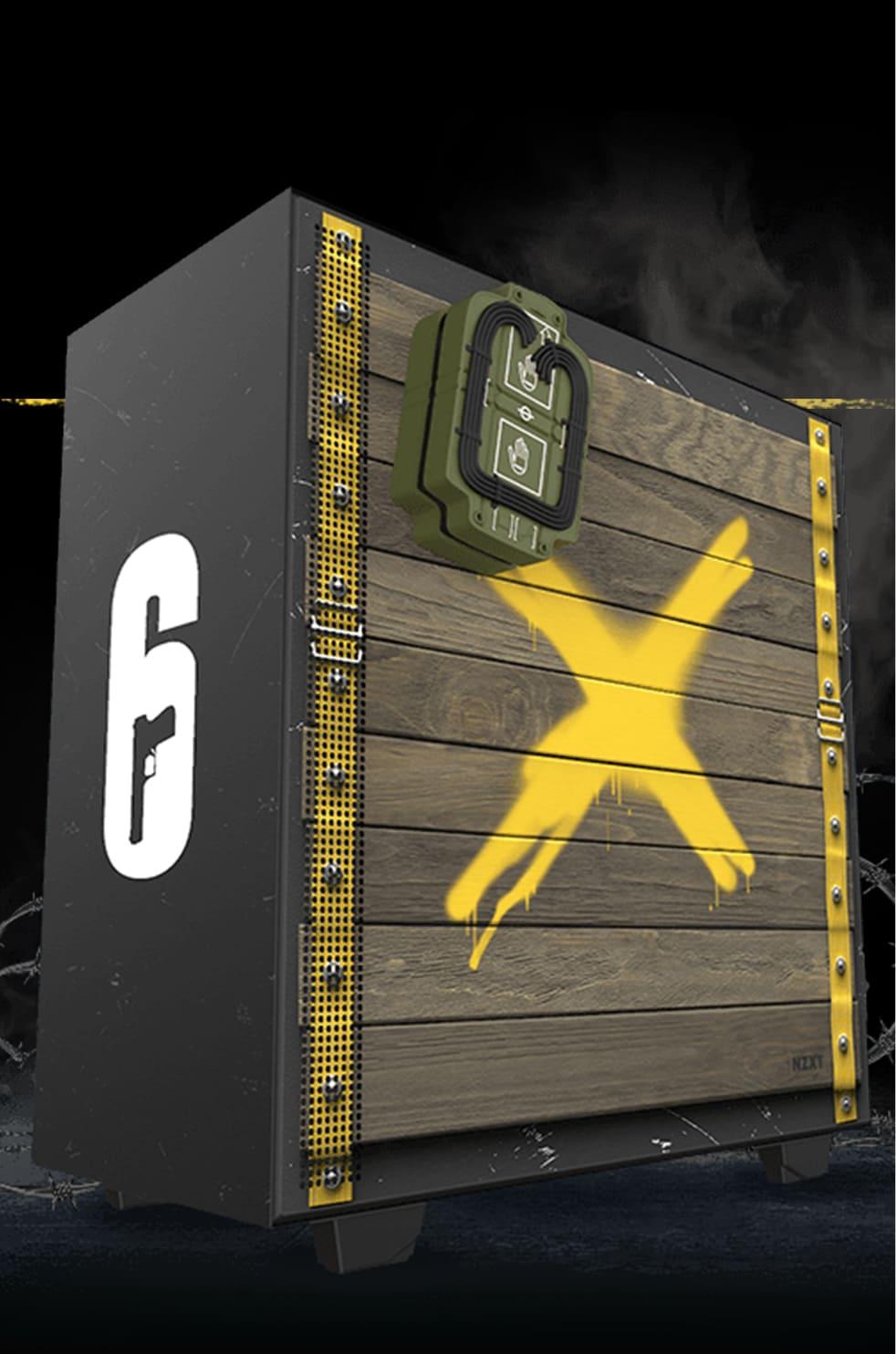 Gehäuse in der Six Siege Barrikadenoptik
