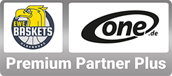ONE.de ist Premium Partner Plus bei den EWE Baskets aus Oldenburg