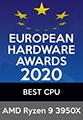 EUROPEAN HARDWARE AWARDS 2020 BEST CPU AMD Ryzen9 3950X