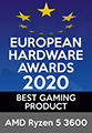 EUROPEAN HARDWARE AWARDS 2020 BEST GAMING PRODUCT AMD Ryzen 5 3600