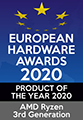 EUROPEAN HARDWARE AWARDS 2020 BEST PRODUCT OF THE YEAR 2020 AMD Ryzen 3rd Generation