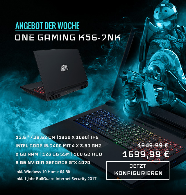 konfigurierbare ONE Gaming Laptops bei ONE.de