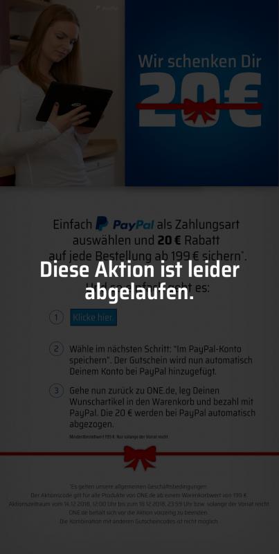 Paypal Rabatt Aktion