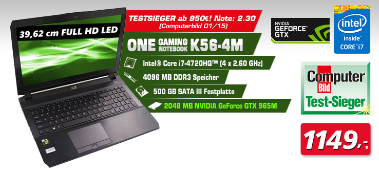 One Gaming Notebook